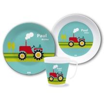 Geschirrset-Namen-Traktor