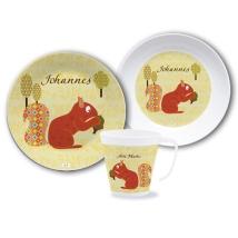 Geschirrset–Name–Eicherhörnchen